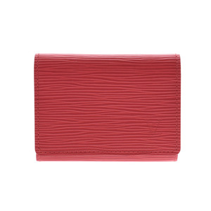 Louis Vuitton Epi カ ル ト ン ヴ ェ ロ ッ ド ゥ ー ジ 赤 Red M5658E Women's Genuine Leather Card Case Business Holder A rank Beauty Products LOUIS VUITTON Used Ginzo