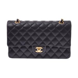 Chanel Matrasse Chain shoulder bag Double lid Black G hardware Women's lambskin New CHANEL box Galley Ginzo