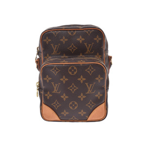 Louis Vuitton Monogram Amazon Brown M45236 Women's Genuine Leather Shoulder Bag B Rank LOUIS VUITTON Used Ginzo