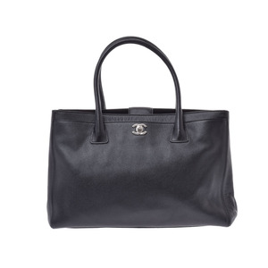Chanel Executive Tote Black SV hardware Women's caviar skin 2WAY bag AB rank CHANEL Used Ginzo