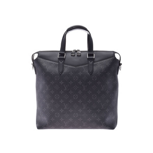 Louis Vuitton Eclipse Explorer Tote Black M40567 Men's Genuine Leather 2WAY Bag A Rank Beauty Product LOUIS VUITTON With Strap Used Ginzo