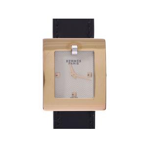 Hermes Belt watch Ivory dial BE1.220 Ladies GP / leather quartz AB rank HERMES box Gala Used Ginzo