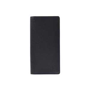 Louis Vuitton Taiga Portoforilles Braza Black M3252 Men's Long Purse A rank Beauty Products LOUIS VUITTON Used Ginzo