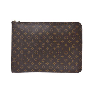 Louis Vuitton Monogram Posh de Couture Brown M53457 Men's Ladies Genuine Leather AB Rank Document Case LOUIS VUITTON Used Ginzo