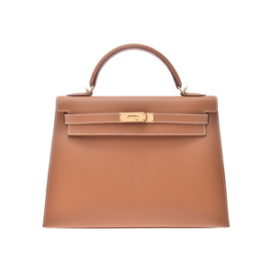 Hermes Kelly 32 outside sewing Natural GP bracket □ D engraved Ladies Chamonix 2WAY handbag A rank HERMES with strap Used Ginzo