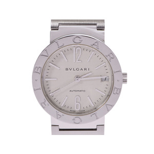 BVLGARI White Dial BB33 SS Men's Women's Automatic Watch Box Gala Used Ginzo