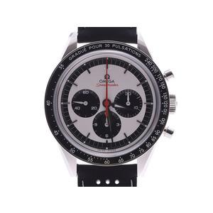 オメガ スピードマスター ムーンウォッチ CK2998 LIMITED シルバー文字盤 311.32.40.30.02.001 メンズ SS/革 自動巻 腕時計 Aランク 美品 OMEGA 箱 ギャラ 中古 銀蔵