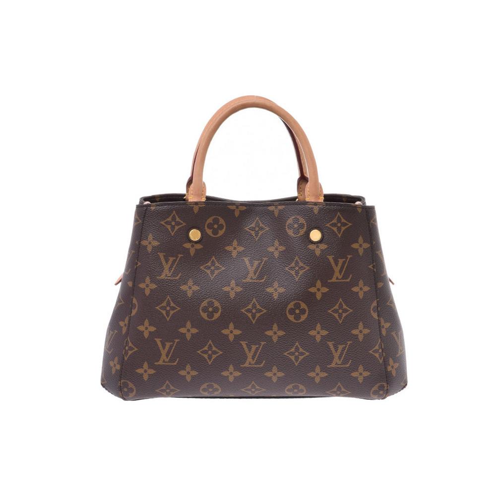 Louis Vuitton Monogram Montaigne BB Brown M41055 Ladies Genuine Leather 2WAY Handbag AB Rank LOUIS VUITTON Used Ginzo