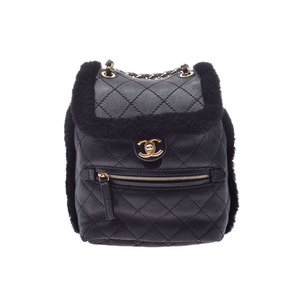 Chanel Matrasse Mini backpack Black G hardware Women's Mouton Rucksack AB rank CHANEL Box Gallery Used Ginzo