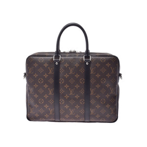 Louis Vuitton Macasa PDV PM Brown Black M52005 Men's Women's Genuine Leather 2WAY Bag A Rank Beauty Product LOUIS VUITTON Strap with Used Ginzo