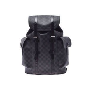 Louis Vuitton Graphite Christopher PM Black N41379 Men's Genuine Leather Backpack Rucksack A Rank Beauty Product LOUIS VUITTON Used Ginzo
