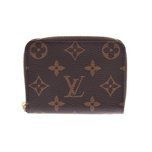 Louis Vuitton Monogram Zippy Coin Purse Brown M60067 Men's Women's Genuine Leather Wallet Unused Beauty Products LOUIS VUITTON Used Ginzo