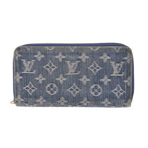 Louis Vuitton Denim Zippy Wallet Blue M95341 Ladies' Men's Long Purse B rank LOUIS VUITTON Used Ginzo