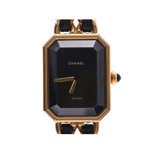 Chanel Premiere S size Ladies GP / leather quartz watch AB rank CHANEL Used Ginzo