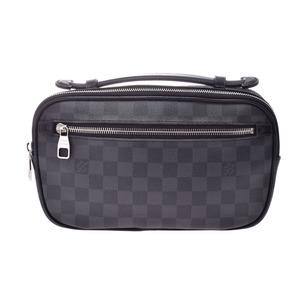 Louis Vuitton Graphite Amberle Black N41289 Men's Genuine Leather Body Bag AB Rank LOUIS VUITTON Used Ginzo