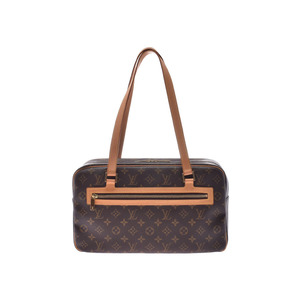 Louis Vuitton Monogram Cite GM Brown M51181 Ladies Genuine Leather Handbag AB Rank LOUIS VUITTON Used Ginzo