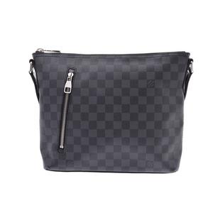 Louis Vuitton Damier Grafick Mick PM Black N41211 Men's Genuine Leather Shoulder Bag A Rank LOUIS VUITTON Used Ginzo