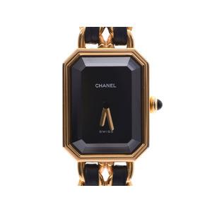 Chanel Premiere Black Dial M Size H0001 Women's GP Leather Quartz Watch AB Rank CHANEL Used Ginzo