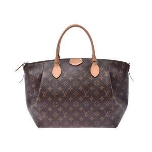 Louis Vuitton Monogram Turen MM Brown M48814 Ladies Genuine Leather 2WAY Handbag AB Rank LOUIS VUITTON Strap with Used Silver Storage