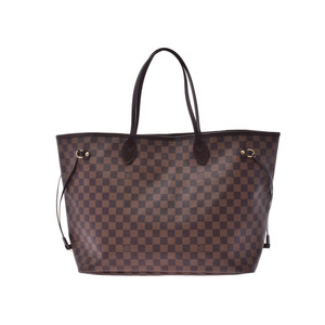 Louis Vuitton Damier Never Full GM Brown N51 106 Ladies Genuine Leather Tote Bag AB Rank LOUIS VUITTON Used Ginzo