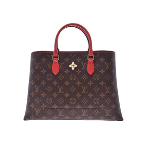 Louis Vuitton Monogram Flower Tote Kokuriko M43553 Ladies Genuine Leather Bag A Rank Beauty Product LOUIS VUITTON Strap with Used Ginzo