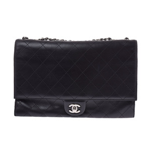 Chanel Matrasse Chain shoulder bag Black SV hardware ladies calf CHANEL Used Ginzo