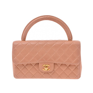 Chanel Matrasse Parent-child bag Parent only Salmon Pink GP hardware Women's lambskin handbags B rank CHANEL Used Ginzo