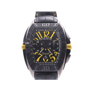 FRANCK MULLER Conquistador Grand Prix Titanium Leather Automatic Mens Watch 9900CC