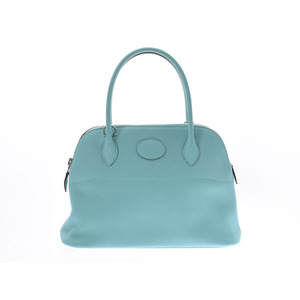 Hermes Bored 27 Blue Atoll SV Bracket X Engraved Ladies Vaux Swift 2 WAY Handbag New Dominium Product HERMES Used Ginzo