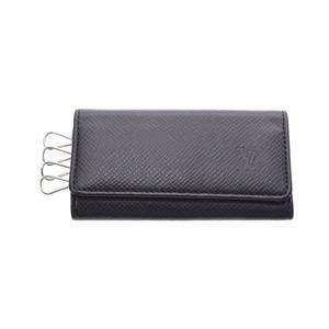Louis Vuitton Taiga Quadruple Key Case Noir M30522 Men's Genuine Leather AB Rank LOUIS VUITTON Used Ginzo