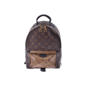 Louis Vuitton Monogram Reverse Palm Springs PM Brown M43116 Ladies Genuine Leather Backpack Rucksack AB Rank LOUIS VUITTON Used Ginzo