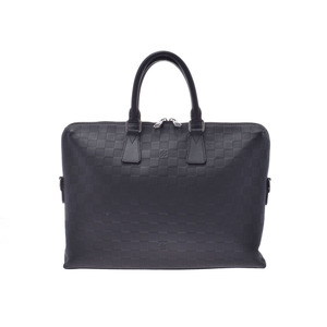 Louis Vuitton Damier Anfini PDJ Onyx N41248 Men's Genuine Leather Business Bag Documents A Rank Beauty Product LOUIS VUITTON Used Ginzo