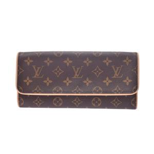 ルイ・ヴィトン(Louis Vuitton) ルイヴィトン モノグラム ポシェット ツインGM ブラウン M51852 レディース 本革 バッグ Aランク LOUIS VUITTON 中古 銀蔵