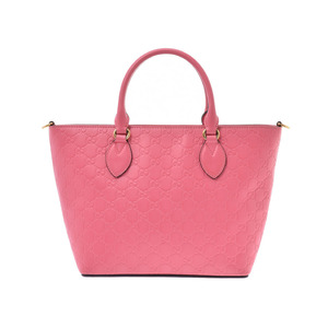 Gucci Guccisima Pink Ladies Calf 2WAY Handbag