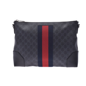 Gucci GG Supreme Messenger Bag Black Men's PVC Shoulder