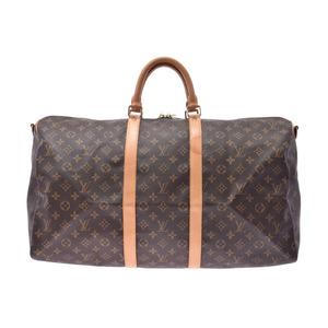 ルイ・ヴィトン(Louis Vuitton) ルイヴィトン モノグラム キーポル55 ブラウン M41414 メンズ レディース 本革 ボストンバッグ Bランク LOUIS VUITTON ストラップ付 中古 銀蔵