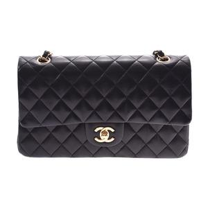 シャネル(Chanel) シャネル マトラッセ チェーンショルダーバッグ 二重蓋 黒 G金具 レディース ラムスキン ABランク CHANEL 箱 ギャラ 銀蔵