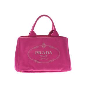プラダ(Prada) プラダ カナパ トートバッグ ピンク BN1877 レディース キャンバス ABランク PRADA ギャラ 中古 銀蔵