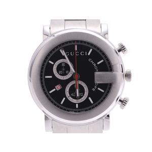 Gucci G Chronograph Black Dial YA101309 Men's SS Quartz Watch Unused Beauty Product GUCCI Box Sky Gallery Used Ginzo