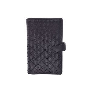 Bottega Veneta Notebook Cover Intorechart Black Men's Women's Leather A Rank Good Product BOTTEGA VENETA Used Ginzo