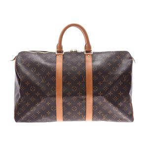 ルイ・ヴィトン(Louis Vuitton) ルイヴィトン モノグラム キーポル45 ブラウン M41428 レディース メンズ 本革 ボストンバッグ Bランク LOUIS VUITTON 中古 銀蔵
