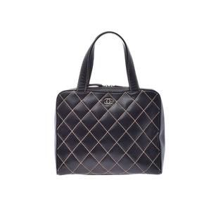 シャネル(Chanel) シャネル ワイルドステッチ ハンドバッグ 黒 レディース カーフ Bランク CHANEL ポーチ 中古 銀蔵
