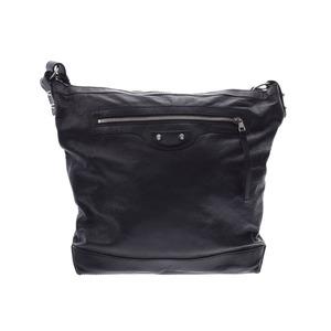 Balenciaga Day Gray SV Hardware Women's Men's Calf Shoulder Bag