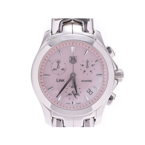 Tag Heuer Link Chrono Pink Shell Dial CJF1311 Ladies' Men's SS Automatic Watch A Rank Beauty Product TAG Box Used Ginzo