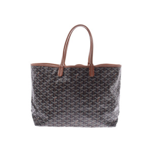 Goyard Saint Louis PM Black / Brown Ladies Men's PVC Tote Bag