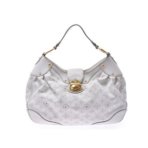Louis Vuitton Mahina Solar GM White M93128 Women's Leather One Shoulder Bag AB Rank LOUIS VUITTON Used Ginzo