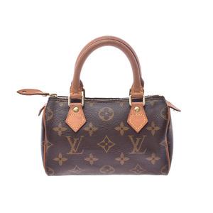 ルイ・ヴィトン(Louis Vuitton) ルイヴィトン モノグラム ミニ スピーディ ブラウン M41534 レディース 本革 バッグ Bランク LOUIS VUITTON ストラップ付 中古 銀蔵