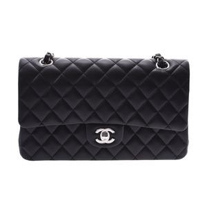 シャネル(Chanel) シャネル マトラッセ チェーンショルダーバッグ 二重蓋 黒 SV金具 レディース ラムスキン 未使用 美品 CHANEL 箱 ギャラ 銀蔵