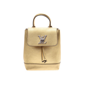 Louis Vuitton Rock Me Backpack Mini Gold M54575 Women's Leather A Rank Beauty Product LOUIS VUITTON Used Ginzo