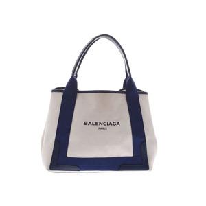 Balenciaga Navy cabas S Women's Canvas / Leather Tote Bag